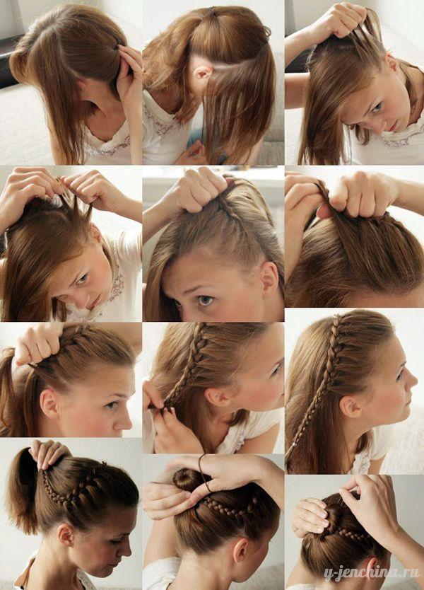 Прически на лето для средних волос своими руками